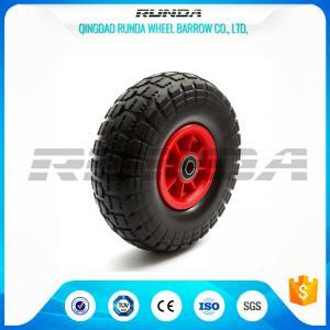 China No Floor Damage Foam Filled Tires3.50-4 Cold Resistan PP Rim 55mm Hub Length wholesale