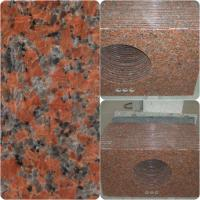 China Maple Red Granite Work Tops Polished Solid Surface High Hardness / Density wholesale