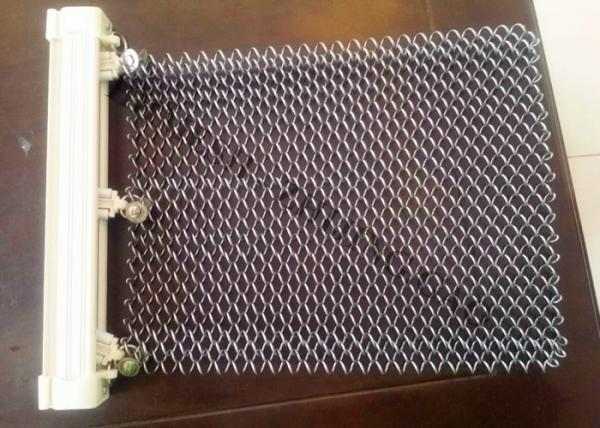 Quality ChainLink Type Metal Mesh Drapery Of Baking Varnish Use Day Lighting Screening for sale
