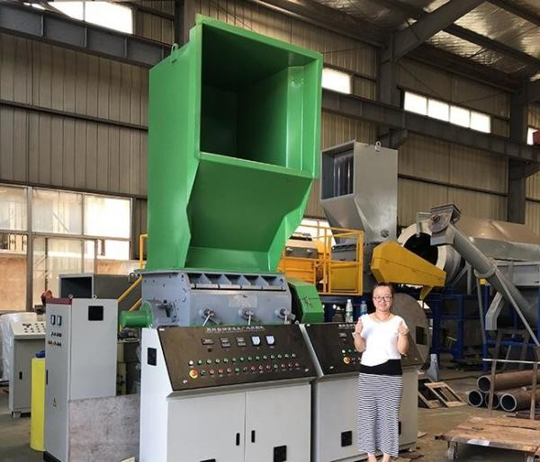 Quality Recycle Crusher PP PE Waste Plastic Recycling , Auto Industrial Crusher Machine for sale