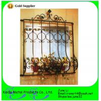 China high quality  wrought iron metal bar  window grill design wholesale