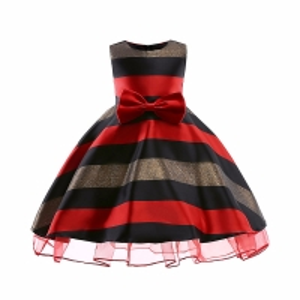 China Sukienki Dla Dziewczynek Vestidos De Novia 2020 Elsa Costume Lol Dress Horizontal Stripes Flower Girl Dress Sukienka Dzi wholesale