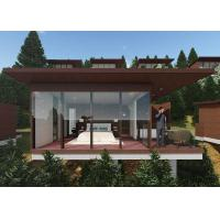 China Cottage Prefab Timber Homes , Prefabricated Wooden Houses With Open Area Bathroom on sale