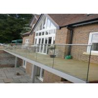 China U Channel Aluminum Glass Railing Fence 12mm-21.52mm Thickness No Need Weld For Porch on sale