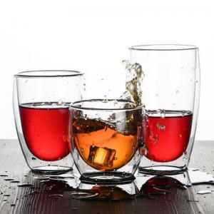 China Handblown Pyrex Heat Resistant Borosilicate 450ml Double Wall Glass Coffee Cup Coffee Mug wholesale