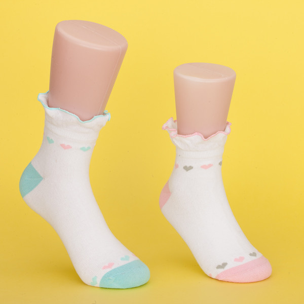 Quality Slip Resistant 100 Cotton Socks For Toddlers , Keep Warm Cute Baby Socks for sale