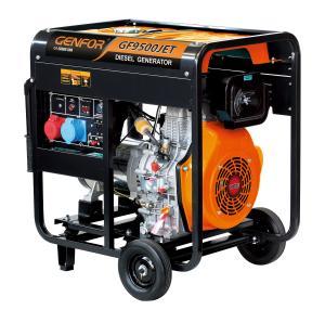 China ATS Handle Wheels Open Type Diesel Generator , Portable Diesel Generator 8.0KW wholesale