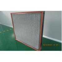 China Stainless Steel Deep Pleated High Temperature HEPA Filter For Ventilation System on sale