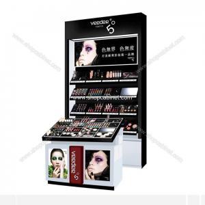Cosmetic Showcase, Acrylic Makeup Display case, slatwall Cosmetic Storage box Cabinet