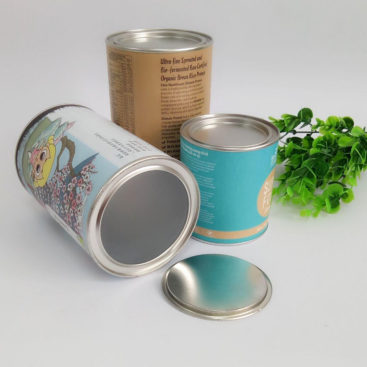 China Hot Stamping Paper Composite Can Packaging For Chocolate Powder / Coffee Powder / Milk Powder wholesale