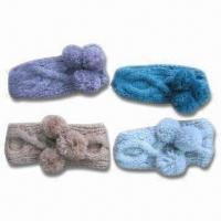 China Headband with Cable Knitted Pattern, Made of 100% Acrylic Mohair wholesale