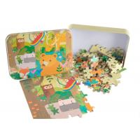 China Adjustable Puzzle Board Games For Adults Customized Tin Box Linen Texture On Surface on sale