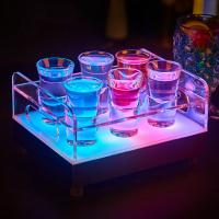 Quality Wholesale led ice buckets for Color changeable LED 6/12-Bottle Shot Glass Bullet for sale