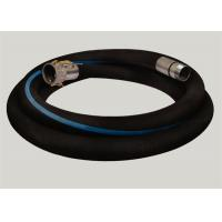China Flange Joint Wire Reinforced Rubber Hose / Corrugated Suction Hose ISO 9001 Approved on sale