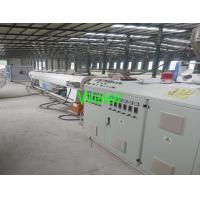 China 50mm to 160mm diameter plastic  PVC pipe extrusion line with conical double screw extruder wholesale