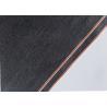 China Cotton Plain Type Chambray Denim Fabric , 4.97oz Shirts Indigo Dyed Cotton Fabric wholesale
