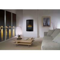 Black Curved Tempered Glass Standing Wall Mounted Electric Fireplace Heater(sliver sand) WF-1323 LED flame effect