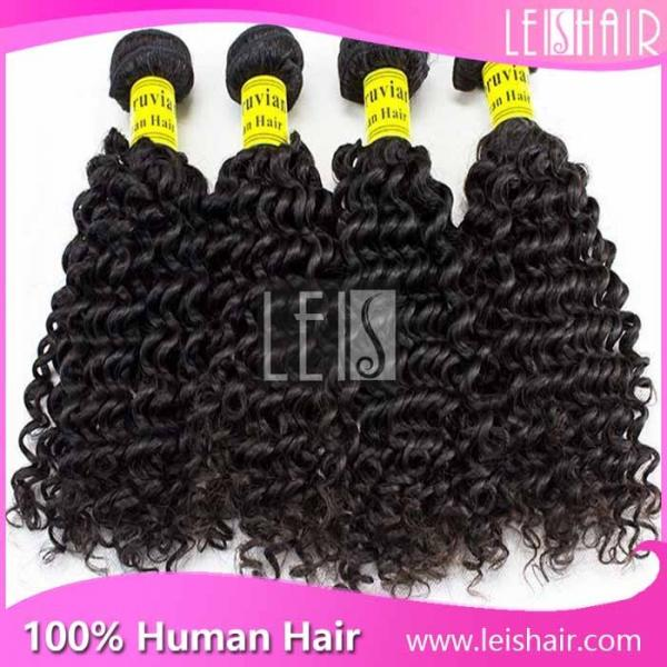 Quality Tangle Free Top quality Virgin Curly Peruvian hair for sale