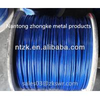 China 6*19 pvc coated steel wire rope,zinc coated wire rope on sale
