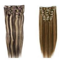 China Silky Straight Remy Dark Brown Hair Extensions Clip In Human Hair on sale