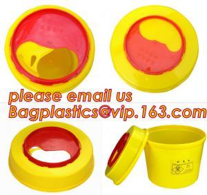 China Disposable Hospital Biohazard Sharp Collector Waste Bin, medical waste Biohazard Bags medical waste disposal bins, hospi wholesale