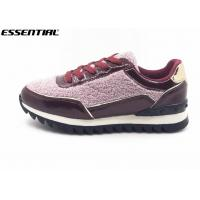 China Warm Ladies Luxury Casual Shoes Glitter And Imitation Suede Lace Up Europe Style wholesale