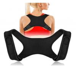 China 2019 Amazon Hot selling Neoprene Black Back Brace Posture Corrector for Women & Men on sale