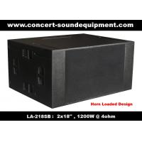 China 4ohm 1200W Concert Sound Equipment  2x18 Horn Loaded Subwoofer For Concert , Disco And Nightclub wholesale