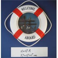 "Nautical Aboard Life Saving Ring Foam Cloth Life Preserver Ring Decoration 14.5"""