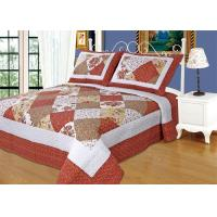 China Imitated Patchwork Cotton Quilted Bedspread Machine Wash Cold Delicate on sale