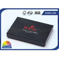 Glossy Lamination Black Rigid Gift Paper Box with Paper Tray , Electronics Packaging Box