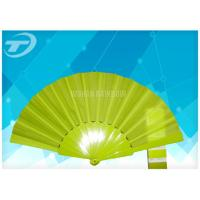 China Solid Color Fabric Personalized Folding Hand Fans With Plastic Handle wholesale