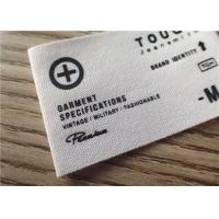China Cotton Woven Clothing Labels With White Background And Printing Graphic Logo wholesale