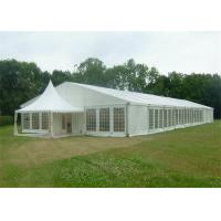 China Large Outdoor Warehouse Tents Shelter Canopy Fabric Covered With Clear Windows wholesale