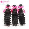 China Remy Deep Wave Brazilian Human Hair Bundles , Brazilian Curly Hair Weave wholesale