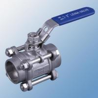 China Durable 3PC Socket Welding 2 Inch Stainless Steel Ball Valve For Industrial on sale