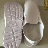 China Thin White Canvas ESD Safety Shoes Anti Static Leather Vamp Material Easy Cleaning wholesale