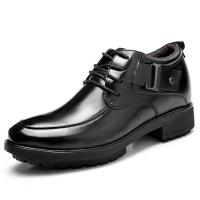 China Black Oxfords Leather Shoes Men's Elevator Height Increased Shoes Taller 3.15 Inches wholesale