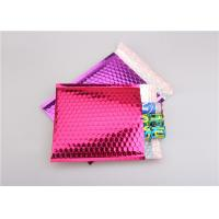 China Pink Metallic Bubble Mailers / Bubble Wrap Envelopes For Electronic Products wholesale
