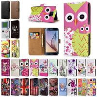 China Printed Flip Folio PU Leather Smartphone Protective Case Wallet For Samsung Galaxy S6 wholesale