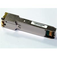 China 1000Base-T Only SFP Copper Transceiver , with 1Gbps SerDes interface Industrial Temp wholesale
