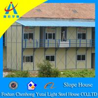 sloping pack prefab house