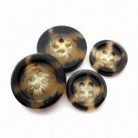 China Heavy Metal and Phthalate-free Polyester Resin Buttons, Customized Designs are Accepted wholesale