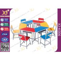 China Multi Functional Combination Student Desk And Chair Set With Steel Drawer / Classroom Furniture wholesale