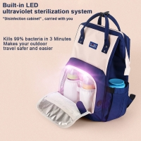 China Waterproof Travel LED UV Baby Disinfection Diaper Bag wholesale