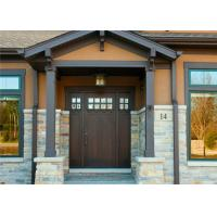 China Durable Interior Solid Wood Doors Customized Size / Color With Tempered Glass wholesale