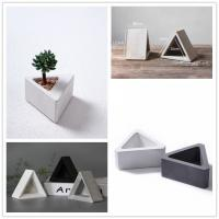 Triangle shaped vase silicone concrete molds clay crafts home decoration potting succulents plants cement planter mold