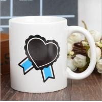China Heart Morph Eco Friendly Mugs , Heating Color Change Magic Mug Printing wholesale