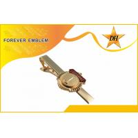 Imitation Hard Enamel Custom Tie Clips Gold Plating With Sand Gritty