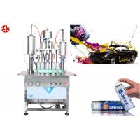 China Semi Automatic Acrylic Spray Paint Can Filling Machine5000-8000cans/Shift wholesale